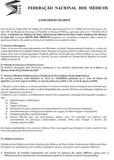 aviso previo greve FNAM ARS centro 1